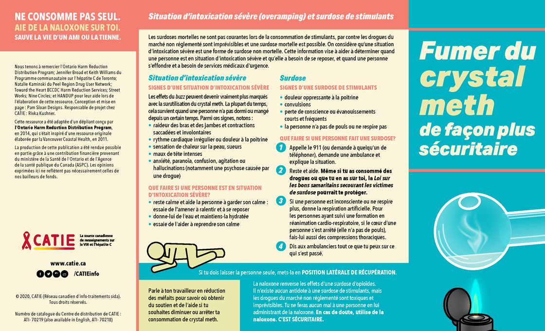 Affiche Fumer du crystal meth de façon plus sécuritaire