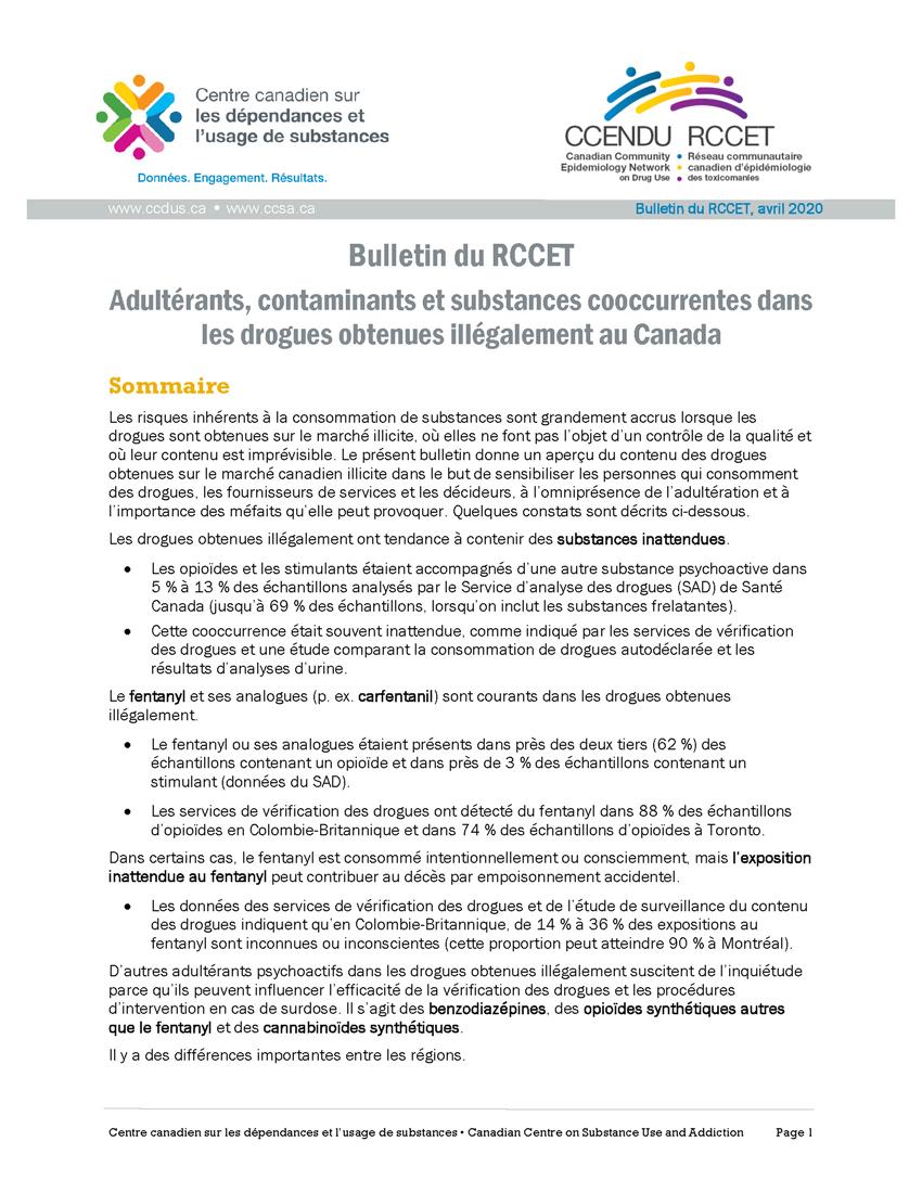 Bulletin RCCET  Contaminants
