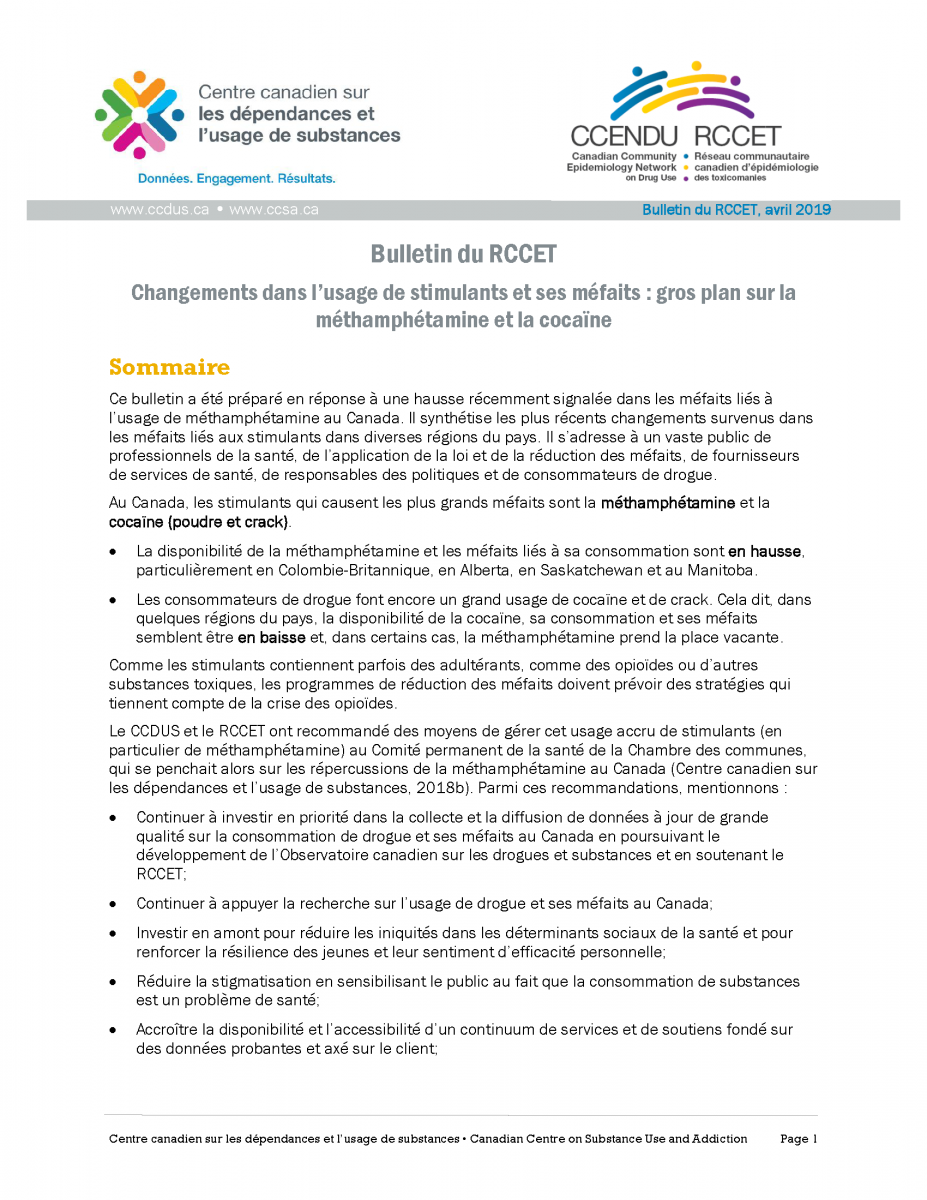 Bulletin RCCET stimulants Avril 2019