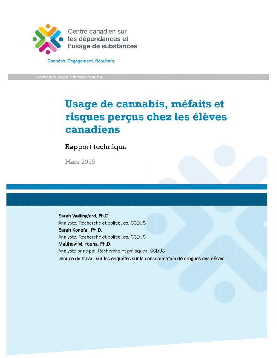 Couverture Usage cannabis eleves CCDUS