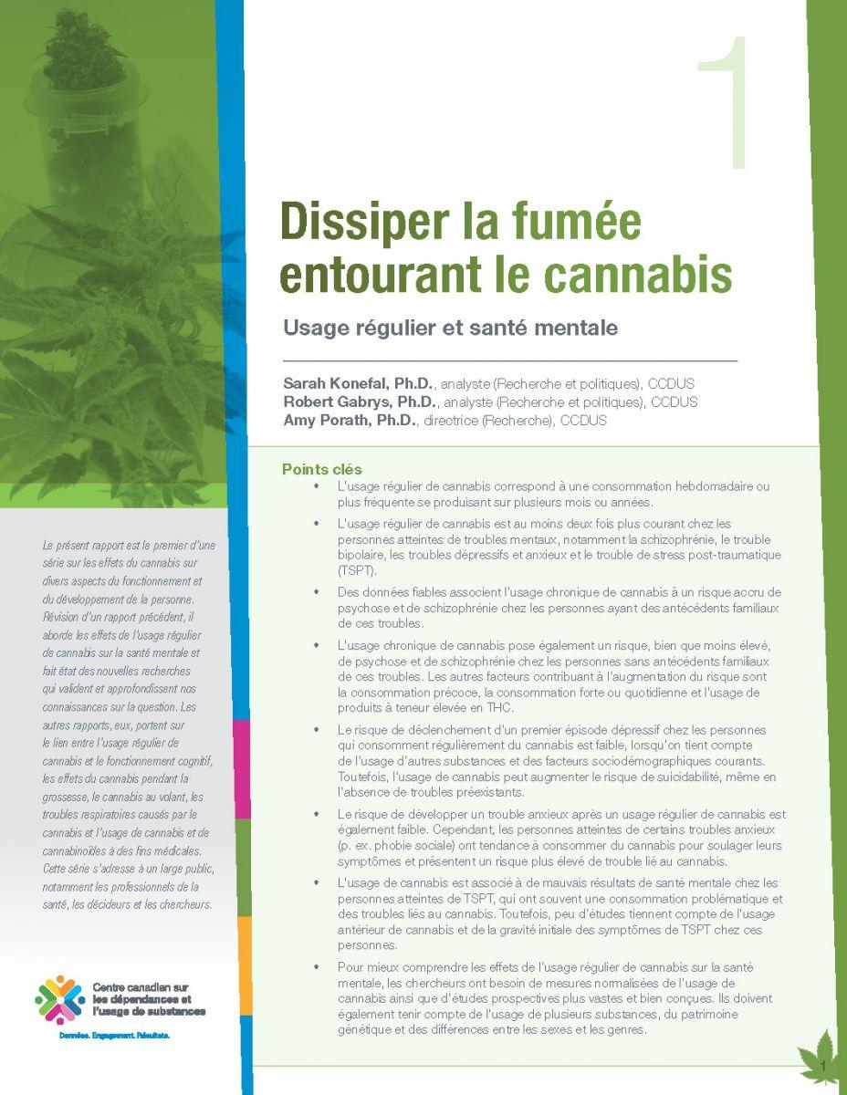 CCDUS Cannabis 1 usage régulier et santé mentale