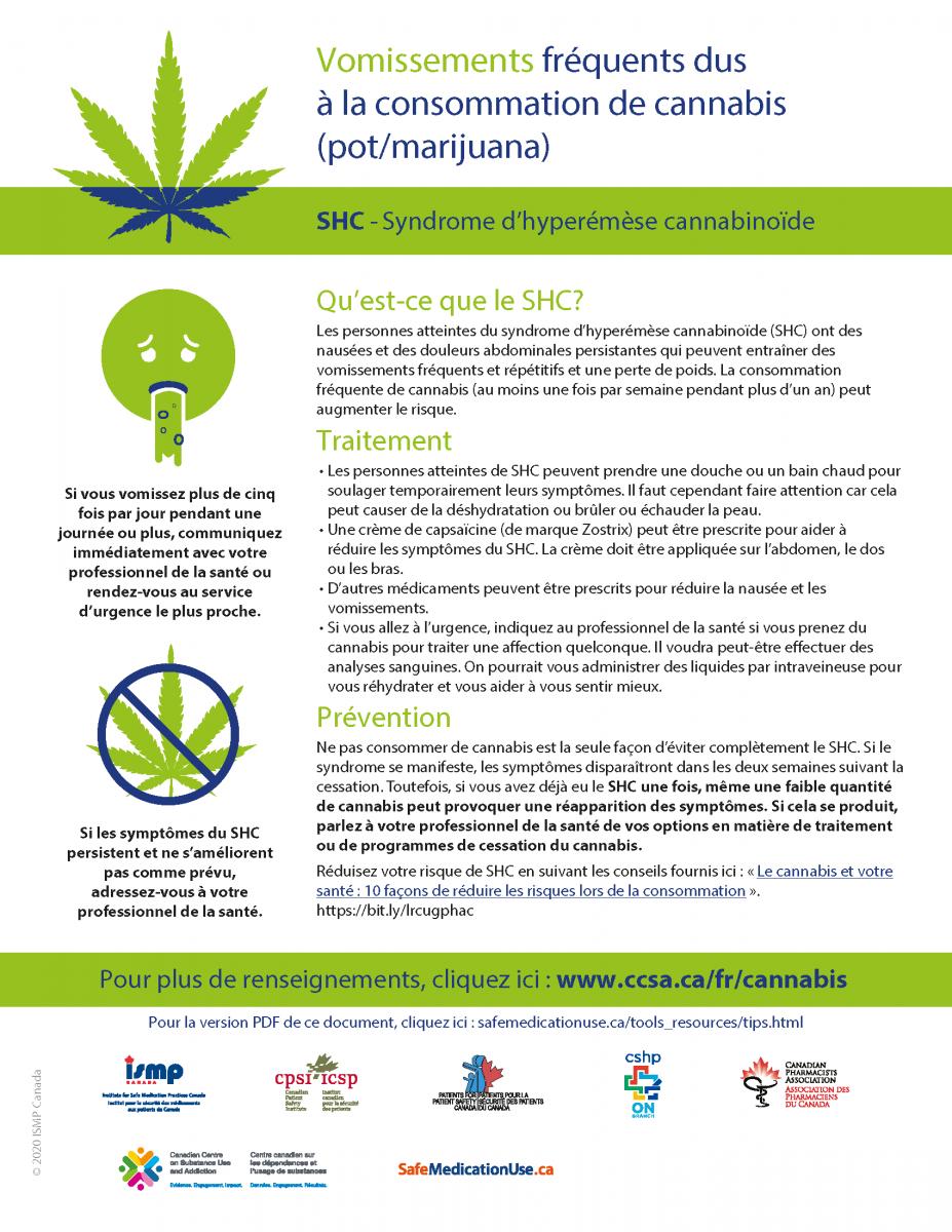 Feuillet syndrome hyperémèse ISMP