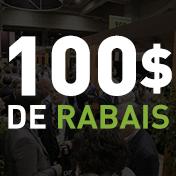 100$ de rabais