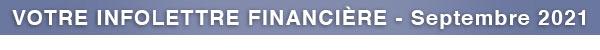 Votre infolettre financière