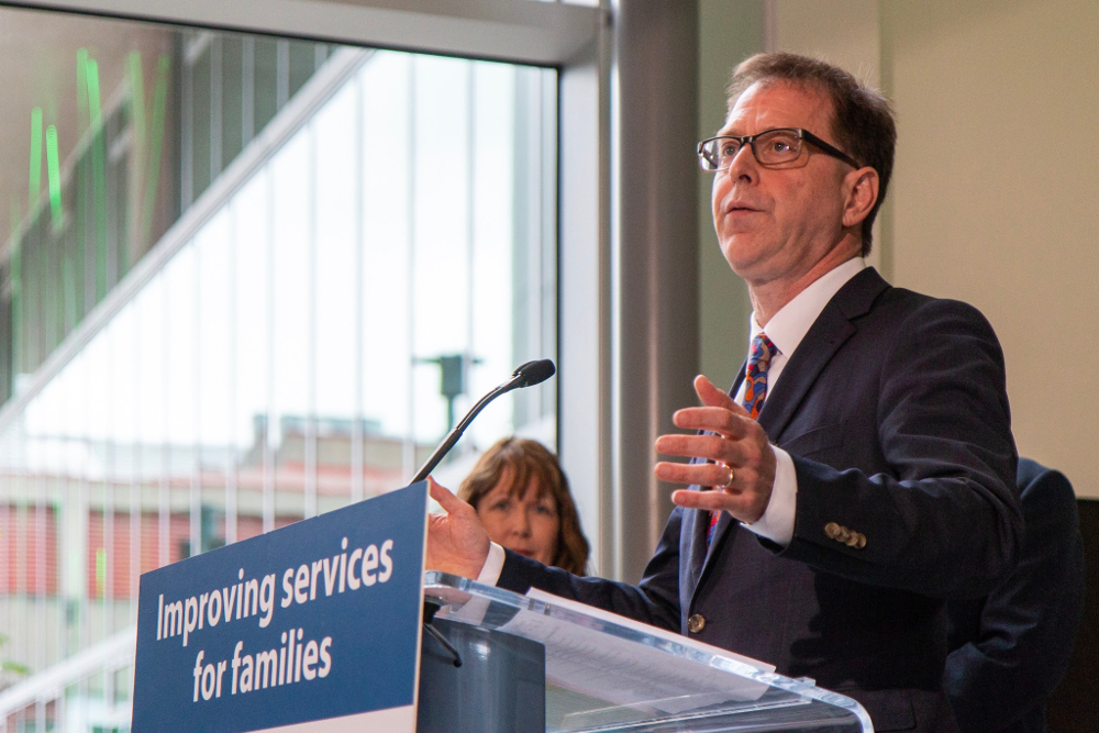 Adrian Dix making health care funding announcement