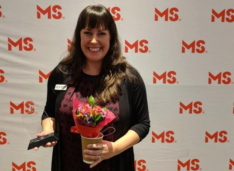 Sherri Mytopher wins award from MS Society