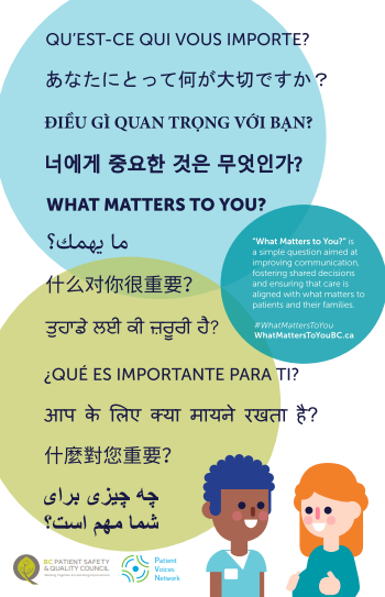 "New ""What Matters to You?"" translated resources"