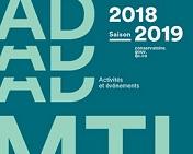 Programmation 2018-2019 du CADM