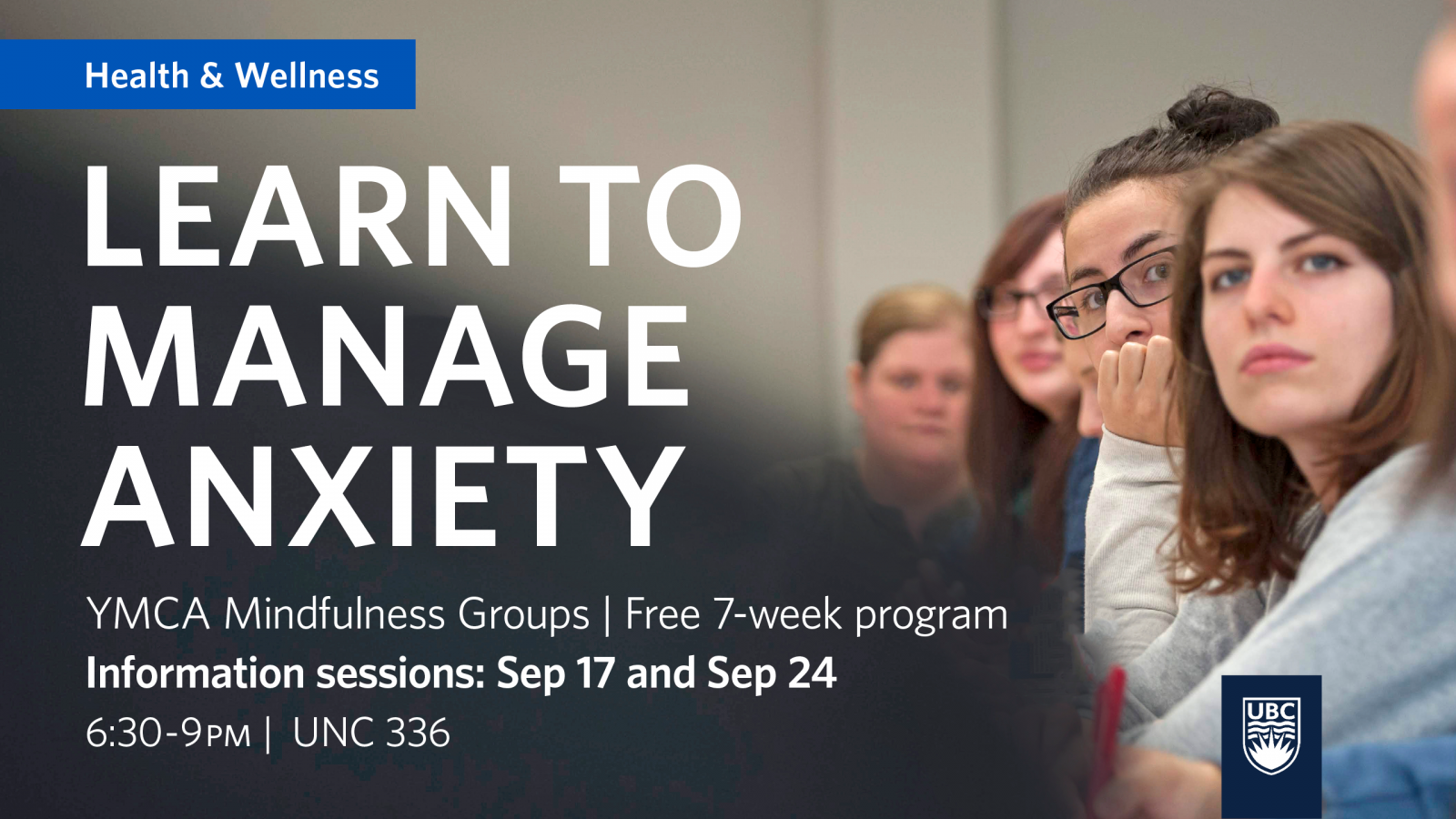 Learn to manage anxiety