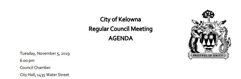 Kelowna Council Meeting