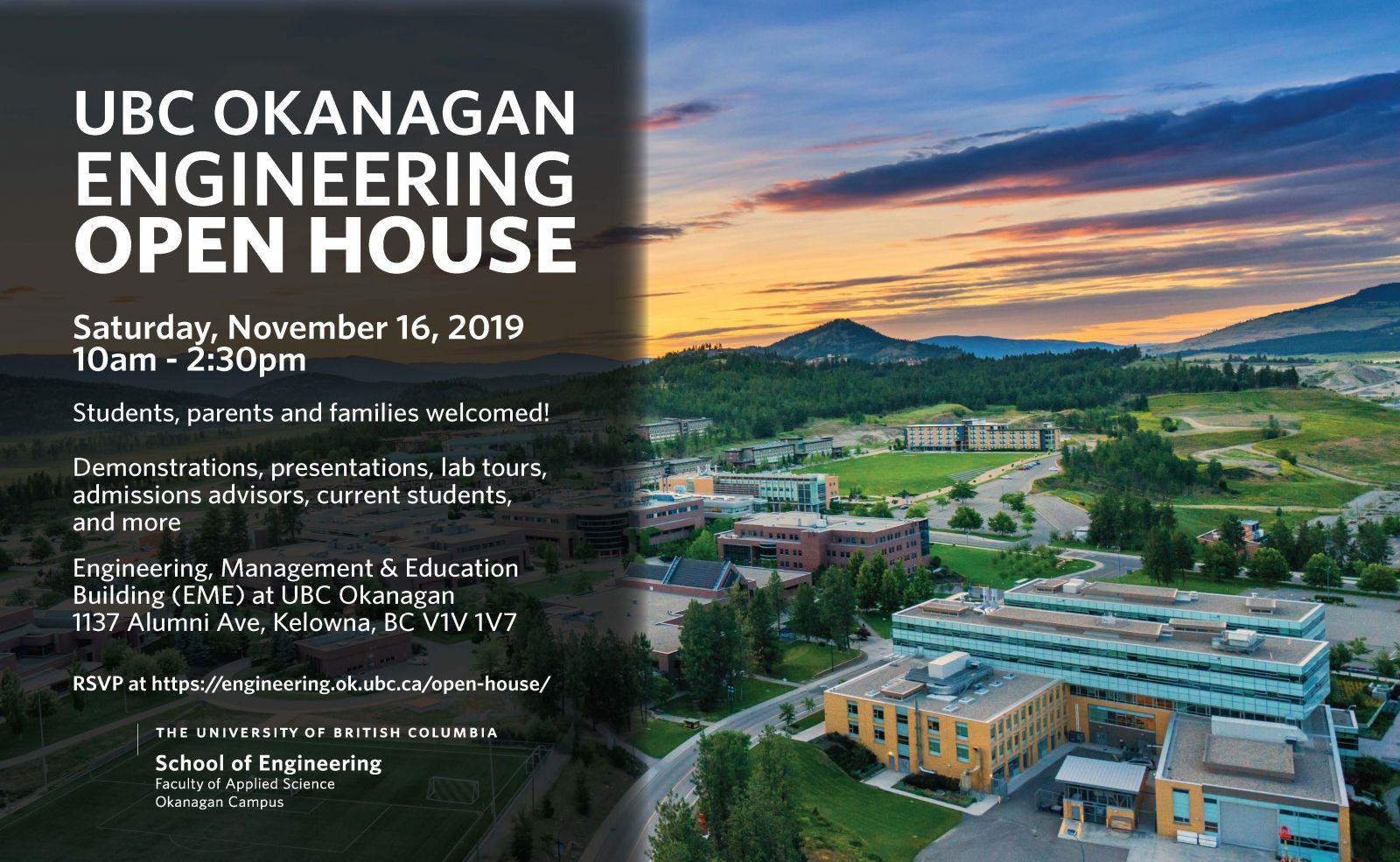 UBCO Engineering Open House
