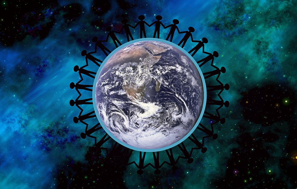 Image of people and earth