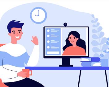 Illustration : consultation par ordinateur.
