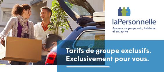 laPersonnelle, assureur de groupe auto, habitation et entreprise. Tarifs de groupe exclusifs. Exclusivement pour vous.