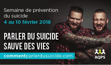 Campagne - Semaine de prévention du suicide 2018