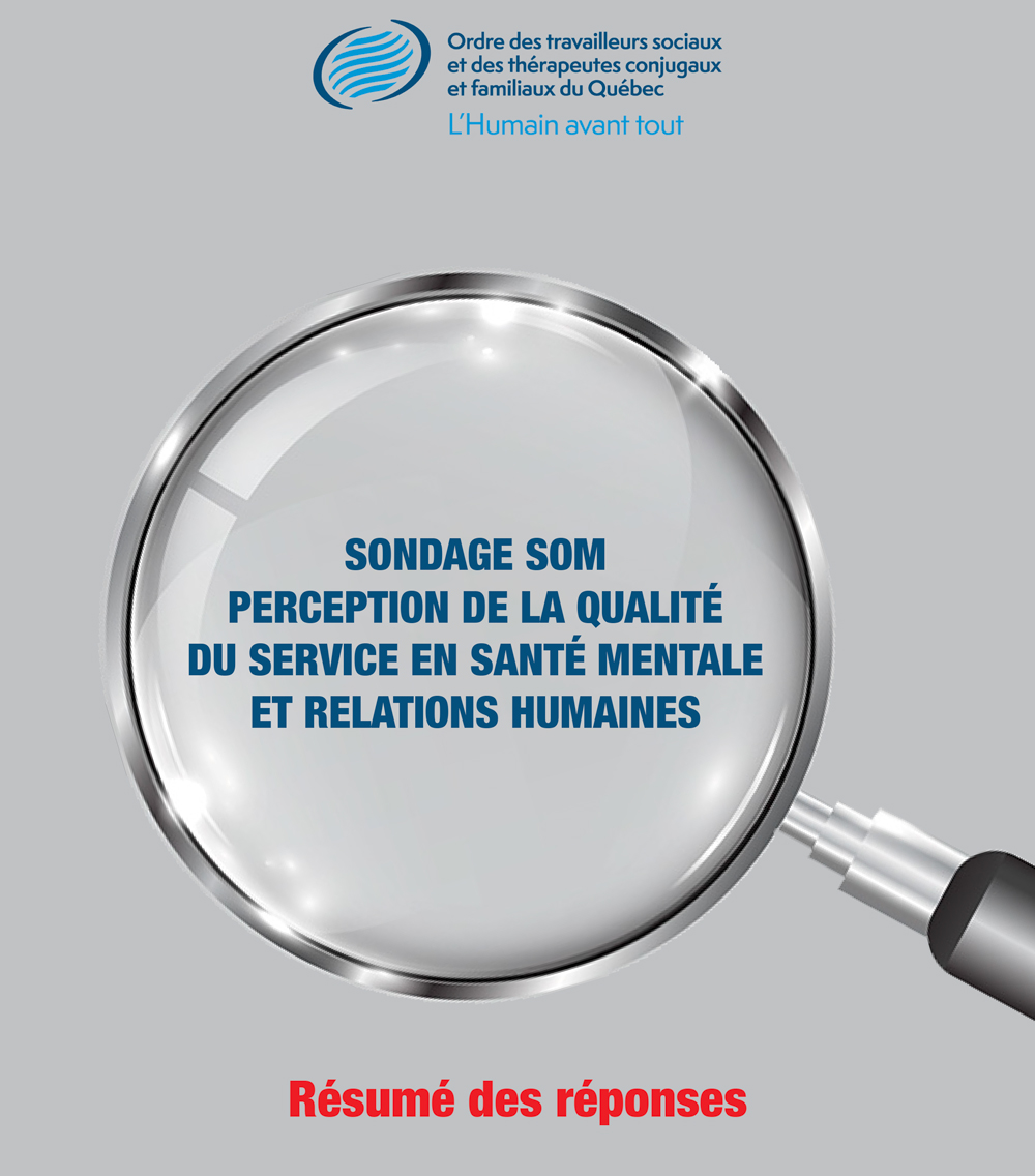 Sondage SOM sur la perception de la qualité du service en santé mentale et relations humaines