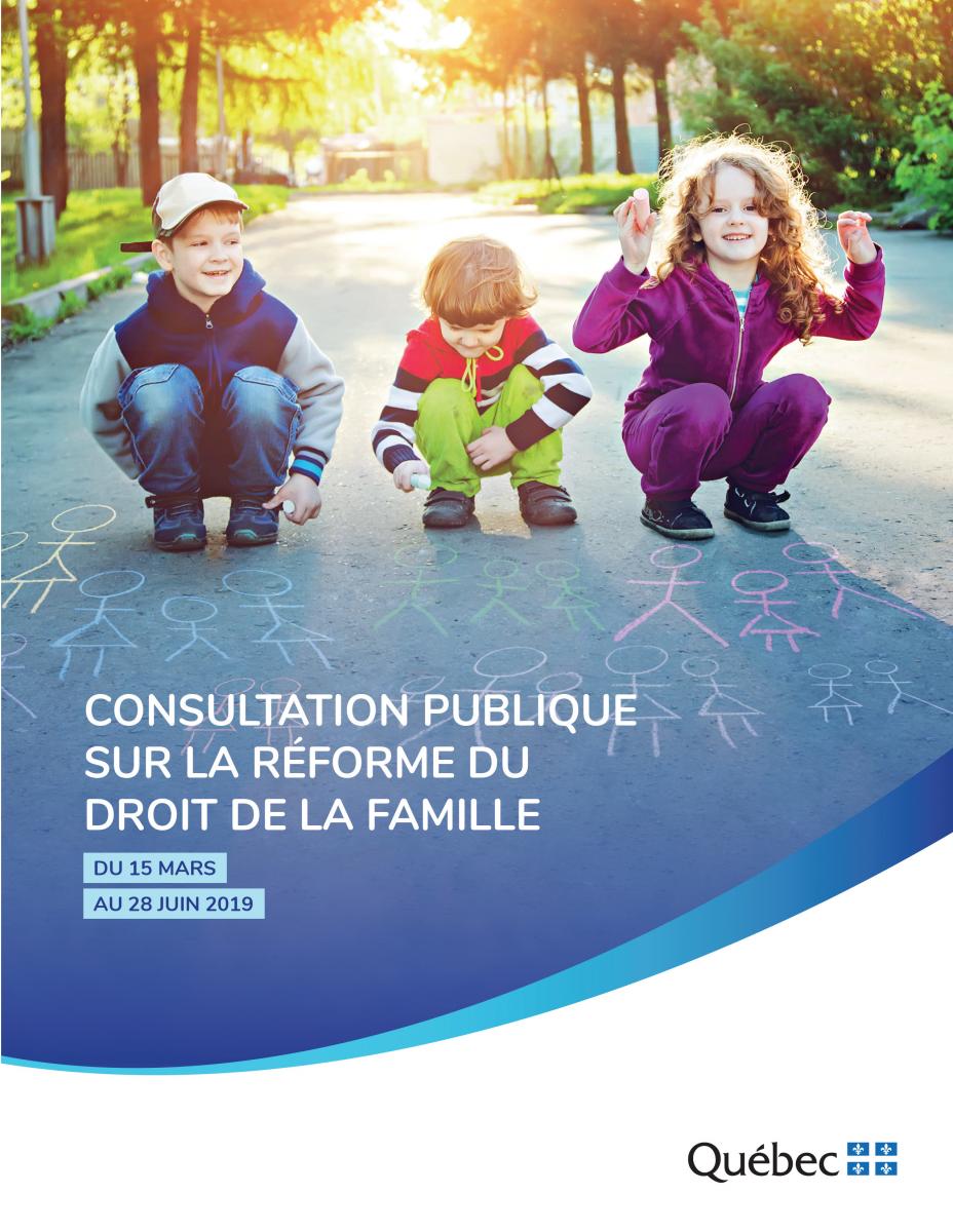 Consultation publique sur la réforme du droit de la famille