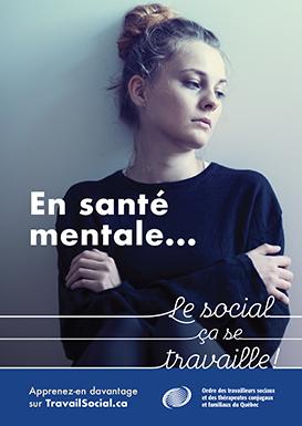 Affiche « En santé mentale... le social ça se travaille »