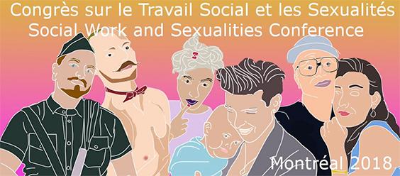 Bannière «Sexualités, genres et intersectionnalités : Élargissement des enjeux du travail social contemporain.»