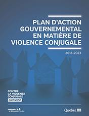 Page couverture du Plan gouvernemental en matière de violence conjugale