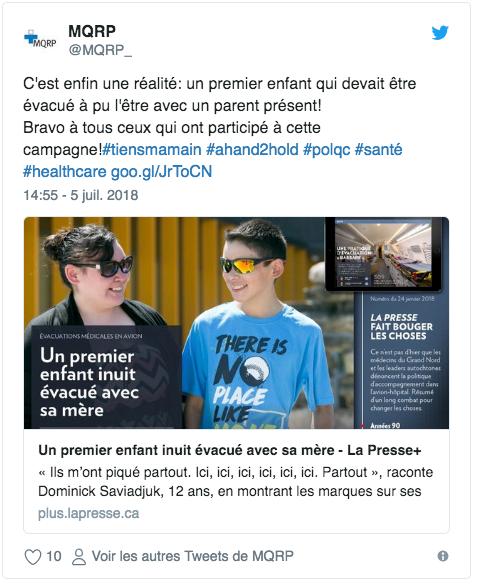 Capture d'écran d'un tweet