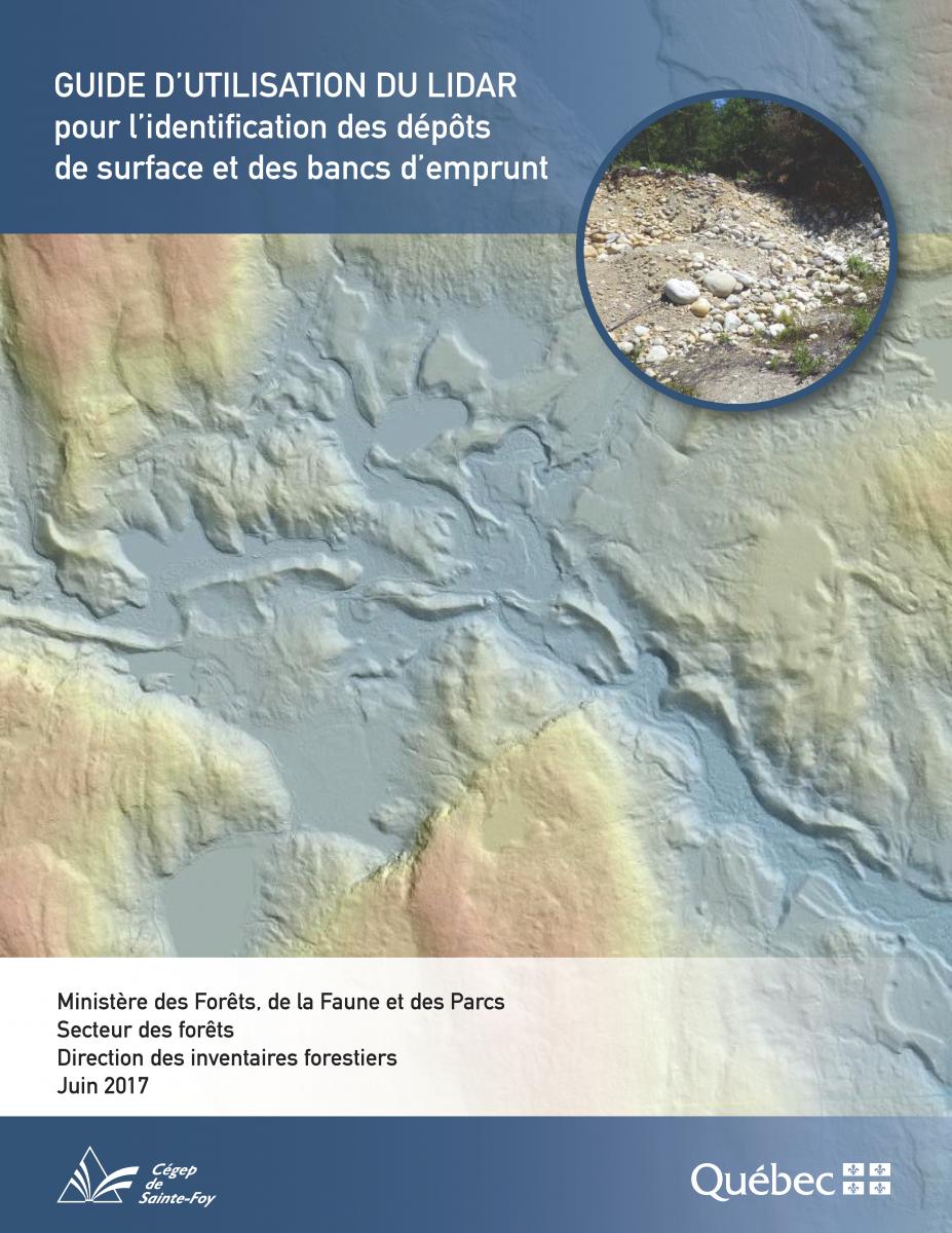 Guide d'utilisation du LiDAR pour l'identification des dépôts de surface