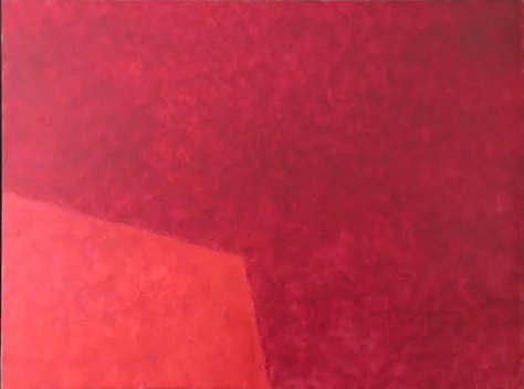Crédit photo : Françoise Sullivan. Rouge no.11, 2010, Huile sur toile, 76 x 101,5cm