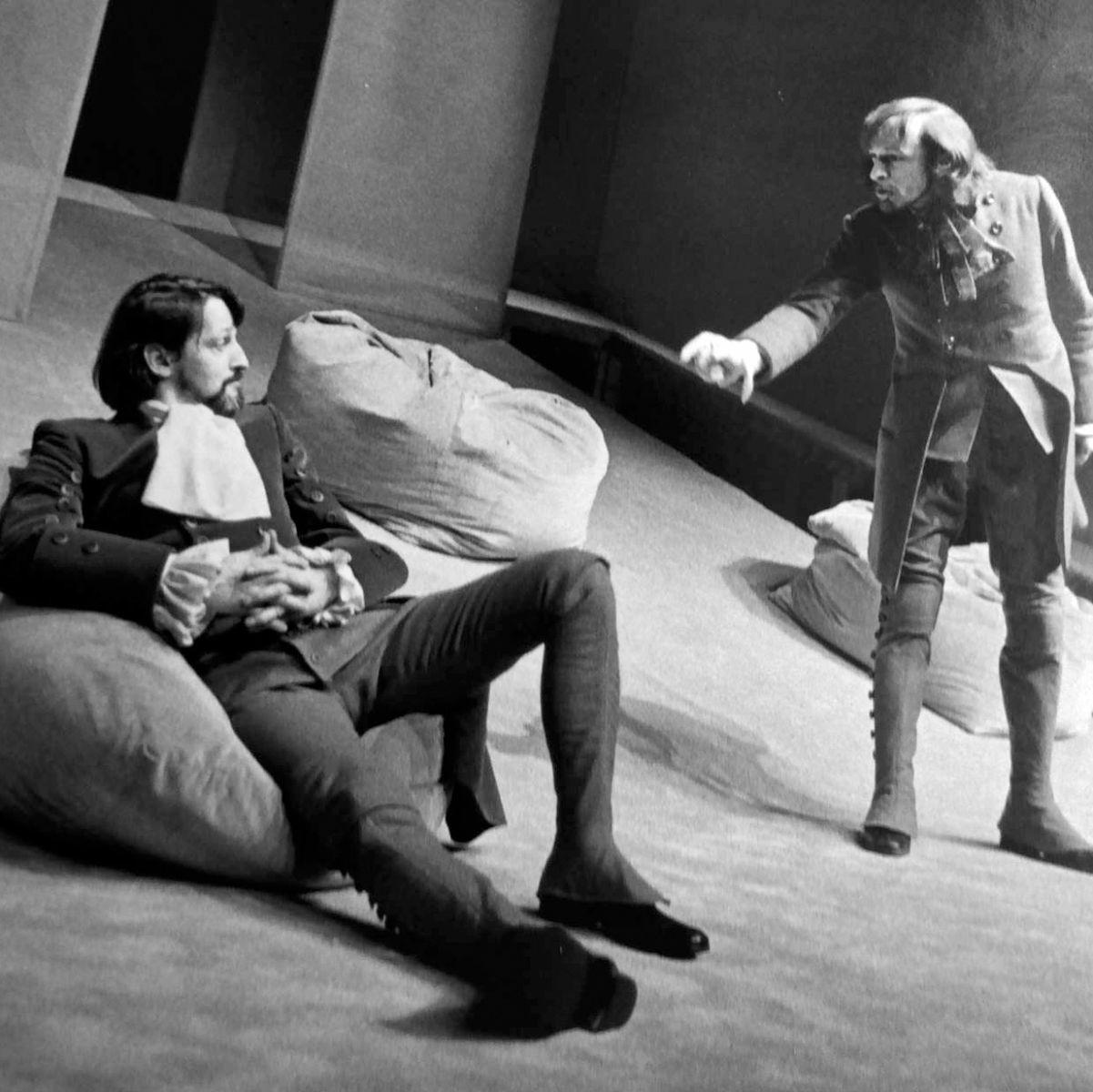 Avec Pierre Collin dans Le Misanthrope (Philinte), TNM 1971