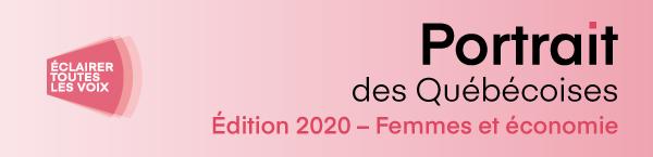 Bandeau Portrait des Québécoises 2020