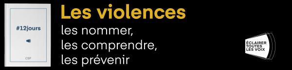 Bandeau 12 jours d'action contre les violences faites aux femmes 2020