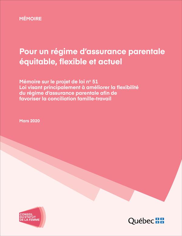 Pour un régime d'assurance parentale équitable, flexible et actuel