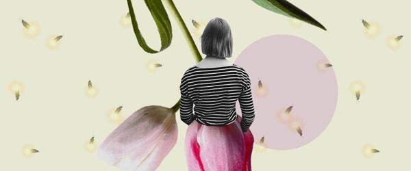 Femme et fleur - thème d'août 2020