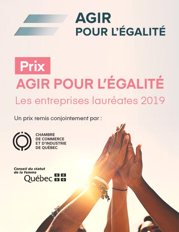 Prix Agir pour l'égalité les entreprises lauréates 2019