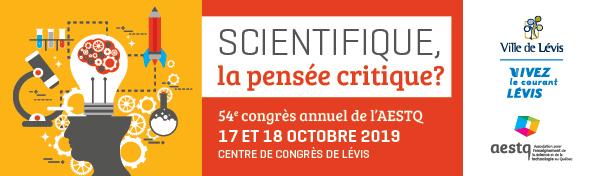 54e congrès annuel de l'AESTQ - 17 et 18 octobre 2019 - Centre de congrès de Lévis