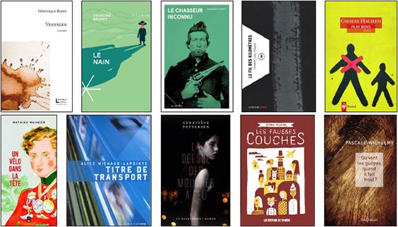 Finalistes Grand Prix littéraire Archambault