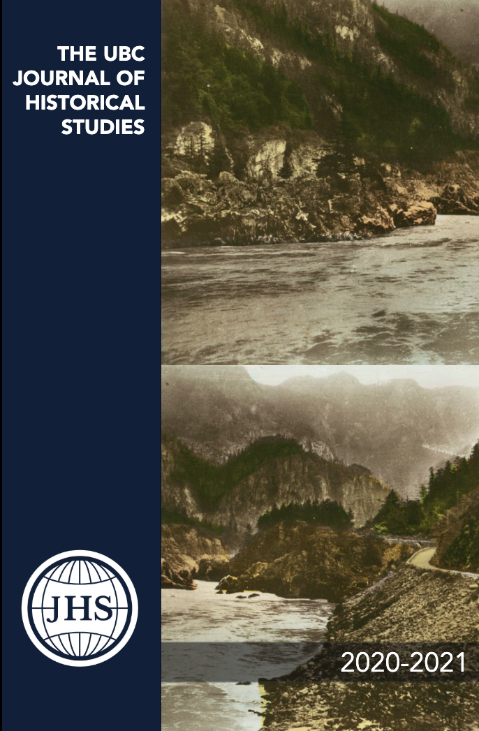 Cover of Journal of Historical Studies, 2021 Issue.