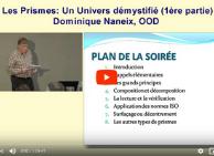 Conférence de Dominique Naneix, opticien d'ordonnances