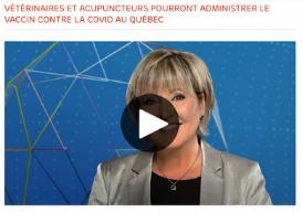 Vétérinaires et acupuncteurs pourront administrer le vaccin contre la COVID au Québec