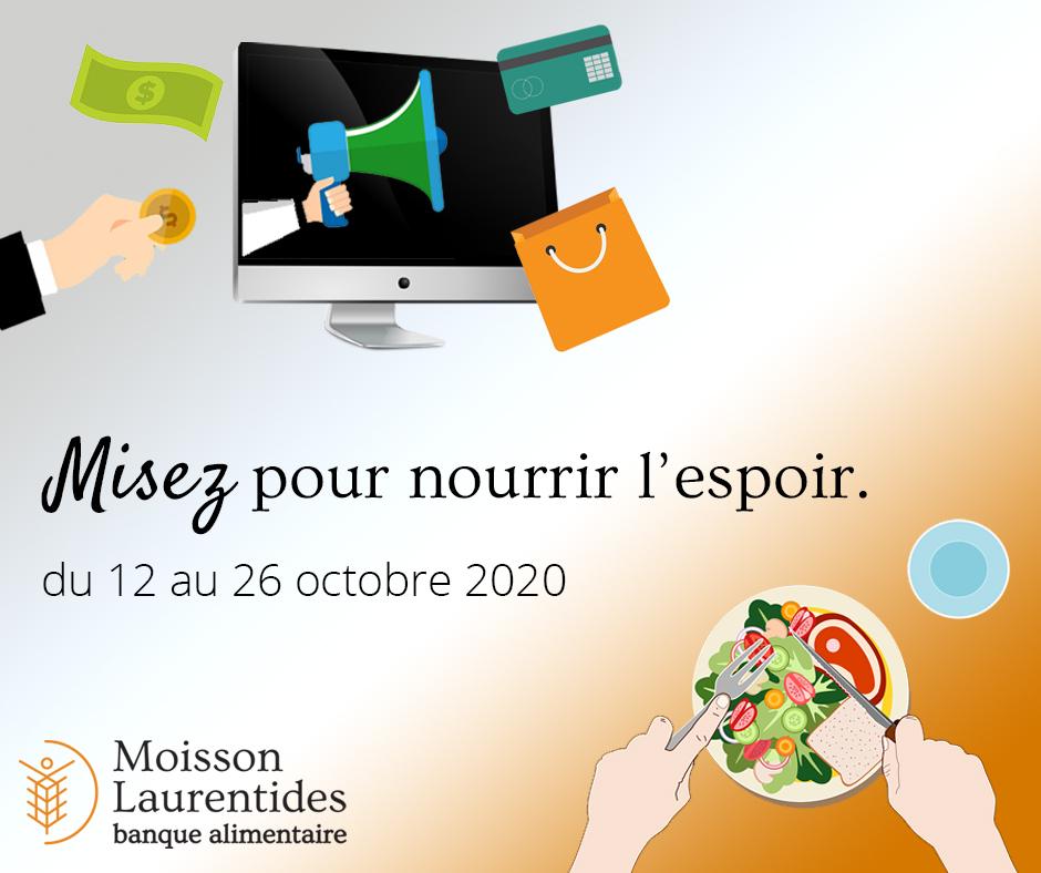 [image] Misez pour nourrir l'espoir. du 12 au 26 octobre 2020 | Moisson Laurentides banque alimentaire