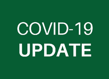 Image of green square with 'COVID-19 UPDATE' text inside