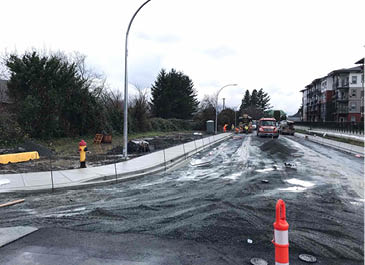 Image of new road before paving