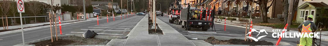 Image of newly paved road