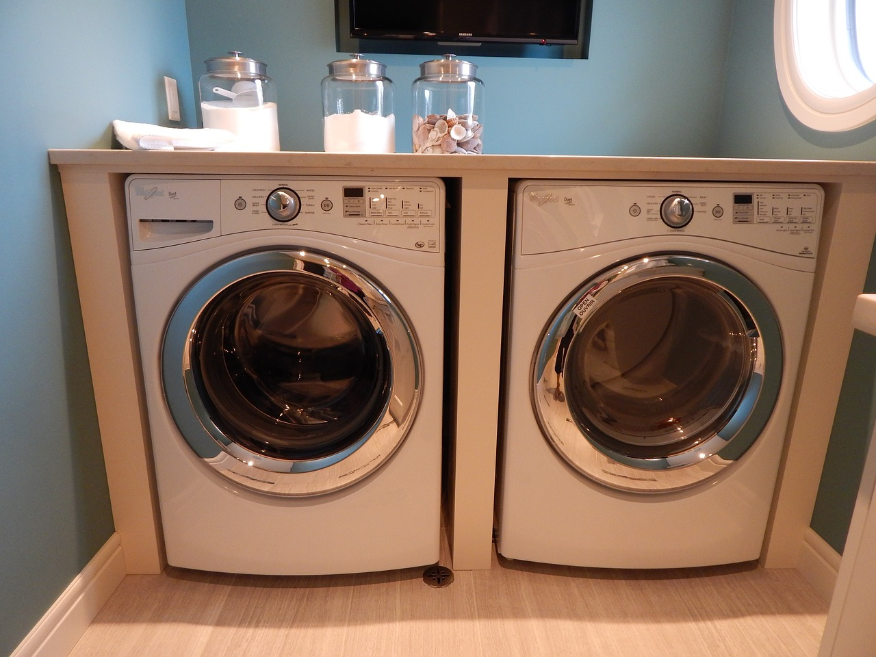 Image of a washer dryer set