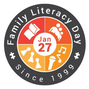Logo for Family Literacy Day, since 1999
