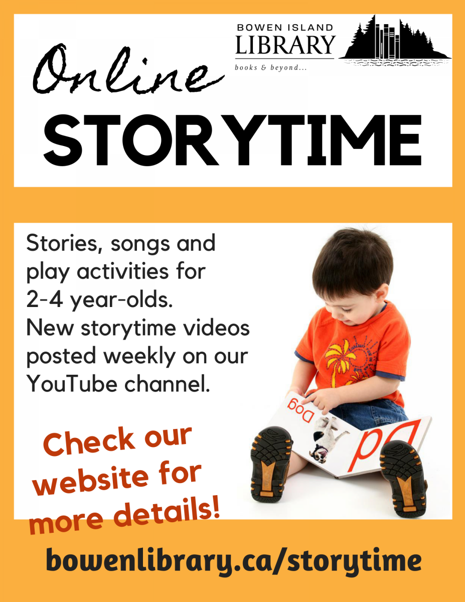 Link to Library's Storytime page, with Storytime videos