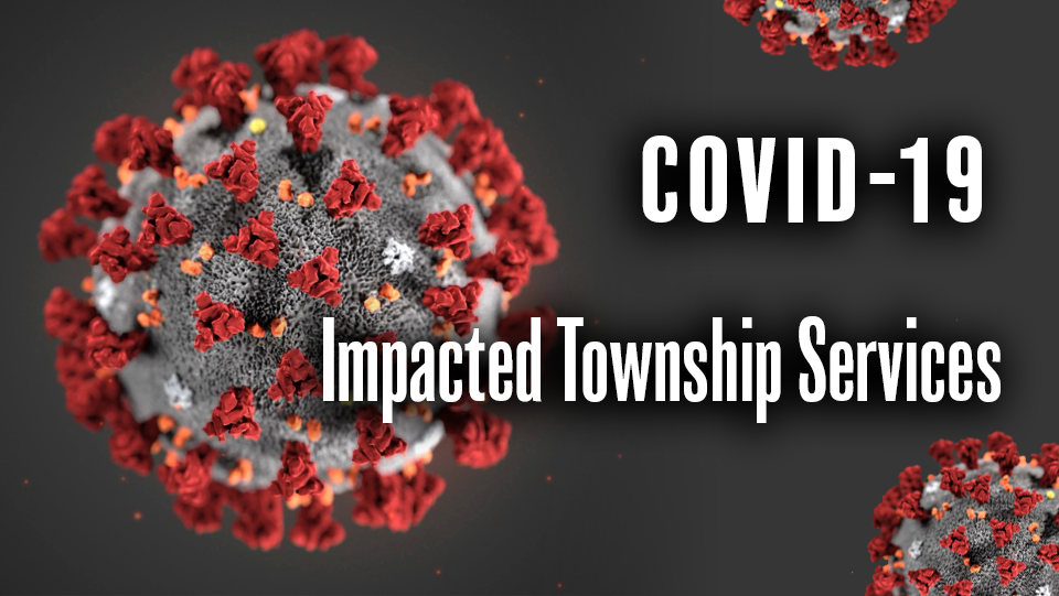 COVID-19 Impacted Township Services with bacteria image