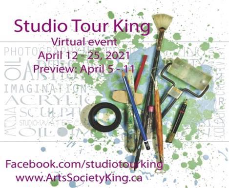 Studio Tour King - virtual event April 12-25, 2021