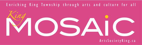 King MOSAiC logo (Arts Society King's arts and culture publication)