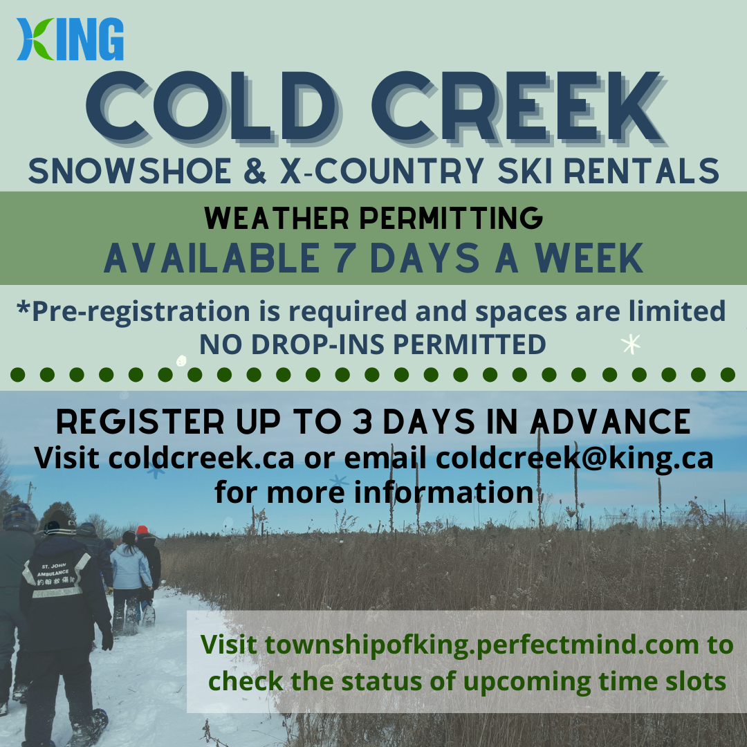 Register for Cold Creek Snowshoe and X-Country Ski Rentals