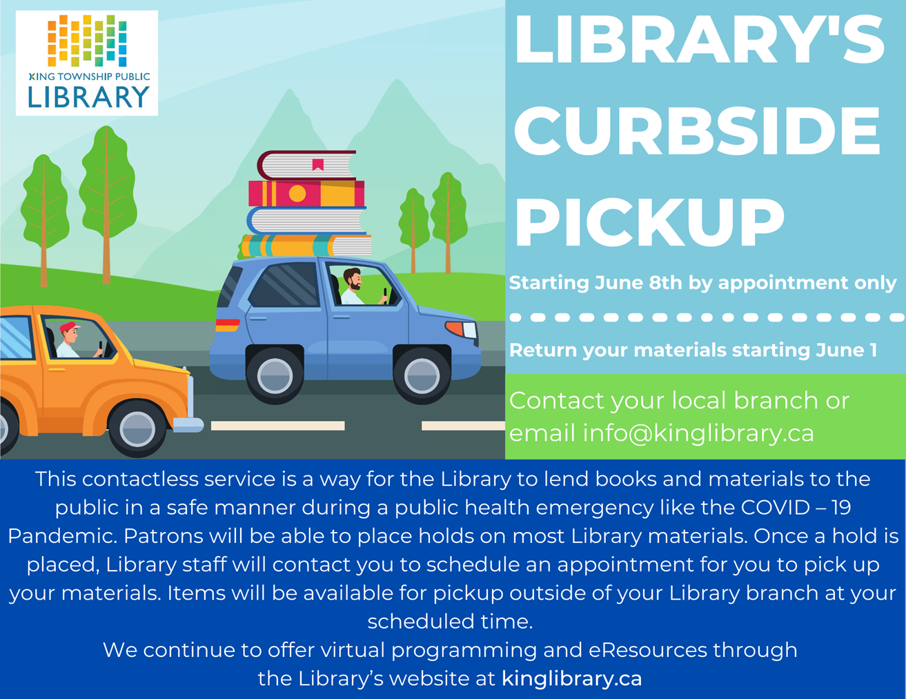 Library's Curbside Pickup